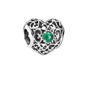Pandora Emerald Heart Bead